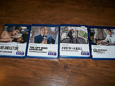 Three James Bond Blu-Ray Movies. Two are BRAND NEW, SEALED ( LOT )