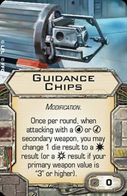 Star Wars X-wing Miniatures Guidance Chips MODIFICATION upgrade card