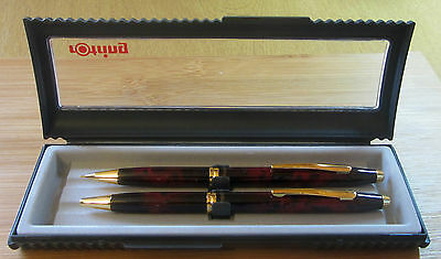 Rotring Side Knock Ballpoint Pen and Pencil Set - Red