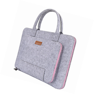 """Ropch 15.6"""" Felt Laptop Sleeve with Handle Notebook Computer Case Bag Pouch"""