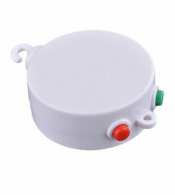 Baby Mobile Crib Bed Bell Electric Autorotation Music White Box 12 Melodies G6U2