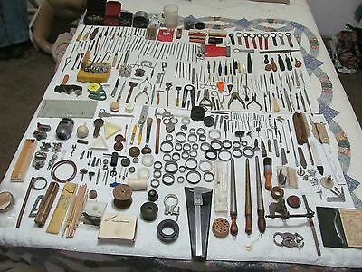 Vintage Watchmaker & Jeweler Tools,parts And Pieces Lot000