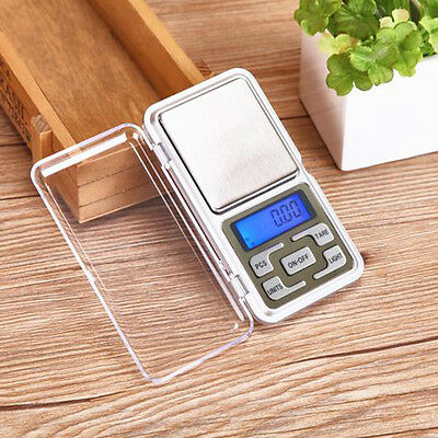 Mini Digital Electronic Pocket Weight LCD Gram Jewellery Scale 500g x 0.01g 0.1g