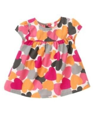 Gymboree Panda Academy Heart Print Top Cotton Poplin Size 3T NWT