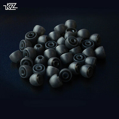 15 Pairs Large Black Replacement Silicone Ear Bud Tip for KZ ED12 ZS2 ATE ZS3