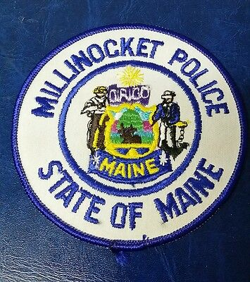 Millinocket, Maine Police Shoulder Patch Me