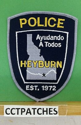 Heyburn, Idaho Police Gray Shoulder Patch Id