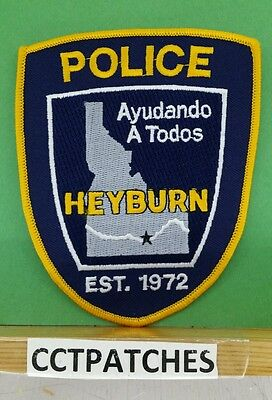 Heyburn, Idaho Police Orange Shoulder Patch Id