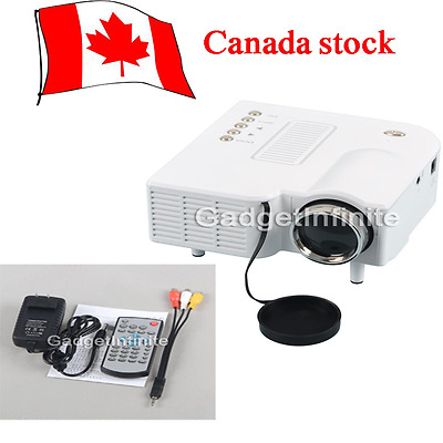 Mini LED Projector Portable HD Home Family Movie Theater PC Uc28 VGA USBSD Video
