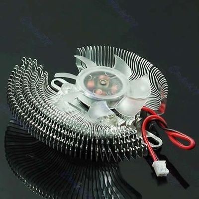 QQ Small Coral VGA Video Card Cooler Cooling Fan Heatsink for NVIDIA GeForce ATI