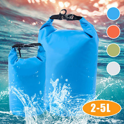 2/5L Outdoor Waterproof Storage Dry Sack Bag Pouch Boating Kayaking Hiking Beach