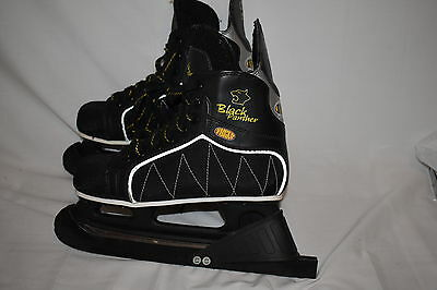 bauer black panther mvp ice hockey skates mens size 8 great condition