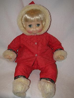 "Vintage 19"" Vogue Hug A Bye Baby Doll Wearing Tagged Vogue Snow Suit"
