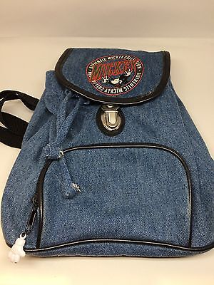Mickey Mouse Authentic Collection Embroidered Backpack denim