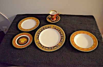 Versace Dinnerware Place Settings  For 8 Medusa Red