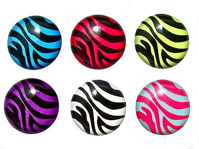 6pc Home Button Sticker Decal Zebra for iPhone 5/4/3 Apple