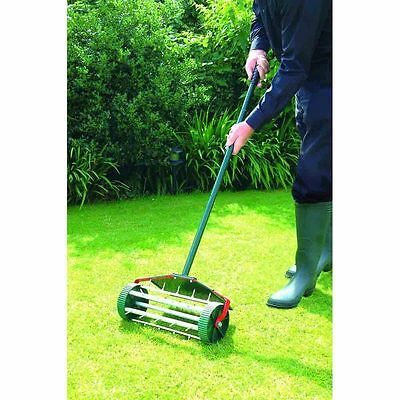 Lawn Garden Spike Spiked Rolling Rotary Aerator Scarifier For Garden Lawn Care