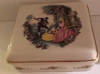 England Lord Nelson Hand Crafted Trinket Box Vintage Antique Collectors Item