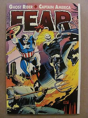 Ghost Rider Captain America FEAR 1992 One Shot Wraparound Gatefold Cover 9.4 NM