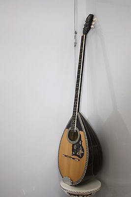 6 String Mythos Bouzouki Walnut Bowl Solid Spruce Top Made In Athens.
