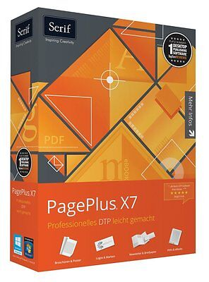 SERIF PagePlus X7 Publisher Page Plus Professionele Version 17 DTP CD/DVD dt.