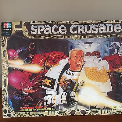 Space Crusade Vintage MB Board Game 1990 Games Workshop 6 Bonus Metal Figures