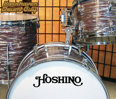 Hoshino, 60s/70s Vintage, Repro Logo - Adhesive Vinyl Decal, for Bass Drum