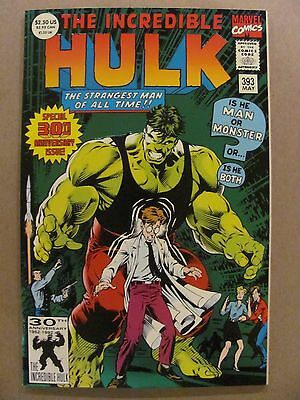 Incredible Hulk #393 Marvel 30th Anniversary Green Foil Stamped 72pgs 9.2 NM-