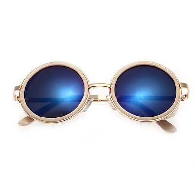 Outdoor Men Women Retro Vintage Round Mirrored Sunglasses Eyewear Sports Glasses