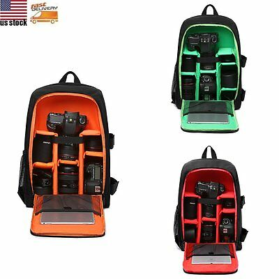"15.6"" Travel DSLR SLR Camera Backpack Laptop Notebook Bag Case Cover Waterproof"