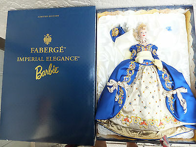 Faberge Imperial Elegance Porcelain Barbie Doll Ltd Ed Shipper 1998 NIB