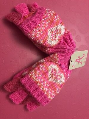 Accessorize Angels Girls Gloves Mittens Pink New Age 3-5