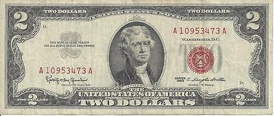 2 Dollar red seal 1963 US Dollar Sammlernote