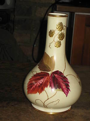 Wedgwood Vase C1883 Painted Autumn Leaves With Berries