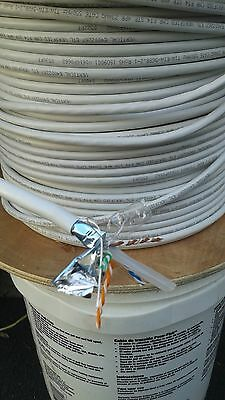 cat6 cable 100+ft length custom shielded bulk in off-white or red color