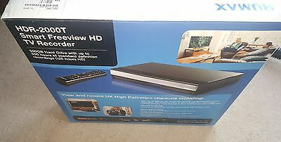 Humax HDR-2000T Freeview+ HD500GB PVR Recorder with Remote *Free Postage. BOXED