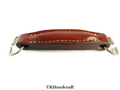 Leather Suitcase Briefcase Luggage Handle Handmade in Britain by UKHandcraft