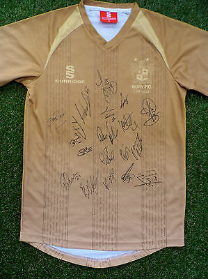 BURY FC Shirt Hand Signed by 2016/2017 Squad - 18 Autographs - Vaughan, Mayor