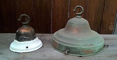 Antique Art Deco Copper Ceiling Lamp Light Shade Fittings 153mm or 6inch Gallery