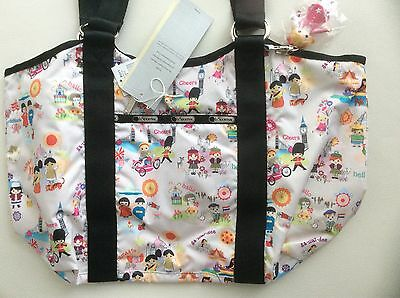 NWT Lesportsac Disney Small World AROUND THE WORLD London Paris CARRYALL LAST 1