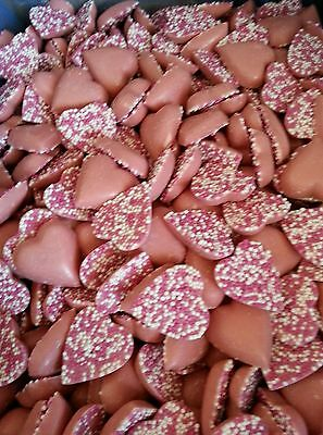 200gm strawberry chocolate hearts / retro sweets /valentine /wedding/party bags
