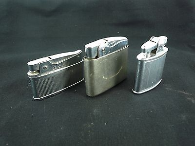 3 Silver Coloured Chrome Lighter Rowenta Snip - Brother Lite - Ronson Standard