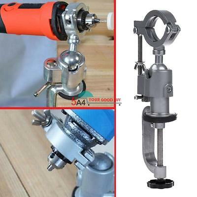 Clamp-on Grinder Holder Bench Vise For Electric Dremel Stand Rotary 360ºDrill AU