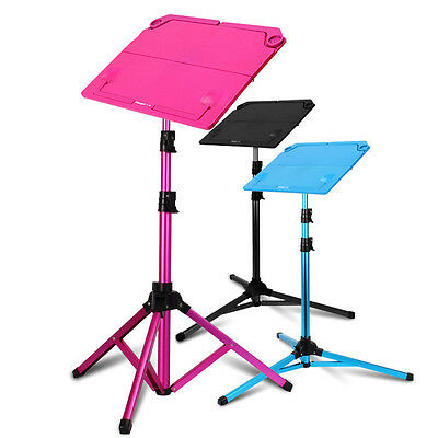 Blue / Pink / Black Music Sheets Stand Tripod Holder Metal Adjustable Foldable