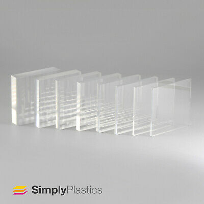 Clear Acrylic Perspex Sheet / 4mm, 5mm, 6mm, 8mm, 10mm / Cut to Size Panels
