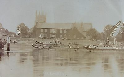 Thames Barges At Isleworth Middlesex Early Rp Pc