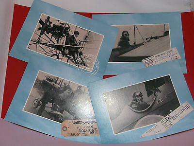 Four (4) Aerial Post POSTAL MUSEUM, Postcards