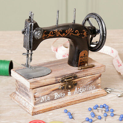 French Vintage Style Singer Sewing Machine Buttons Sewing Box by Dibor