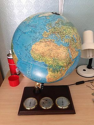 Scanglobe Globe Type Z with Weather Gauges on Wooden Base