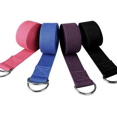Yoga Stretch Strap D-Ring Waist Fitness Exercise Sport Training Belt 1.8M Useful